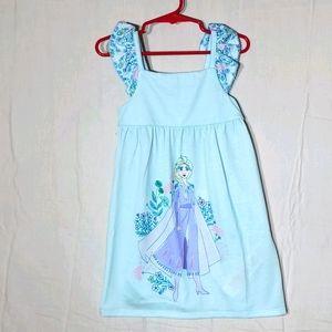 Disney Frozen Elsa size 3 kids blue pj nightgown
